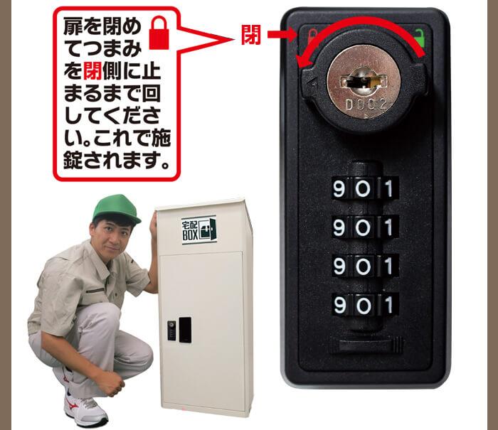 宅配ボックス ルスネコボックス®使い方6