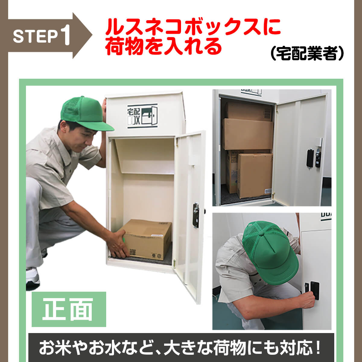 宅配ボックス ルスネコボックス®使い方3