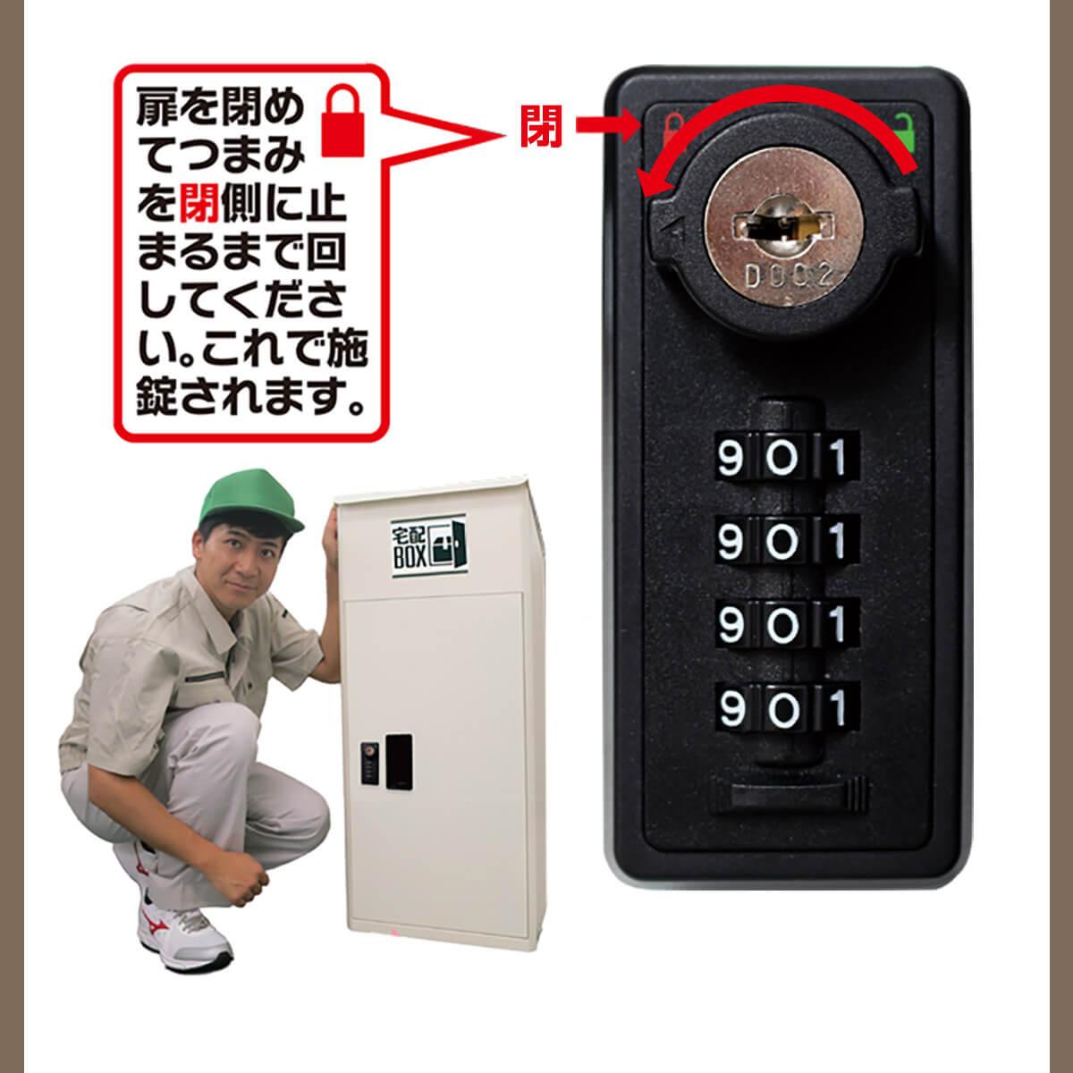 宅配ボックス ルスネコボックス®使い方7