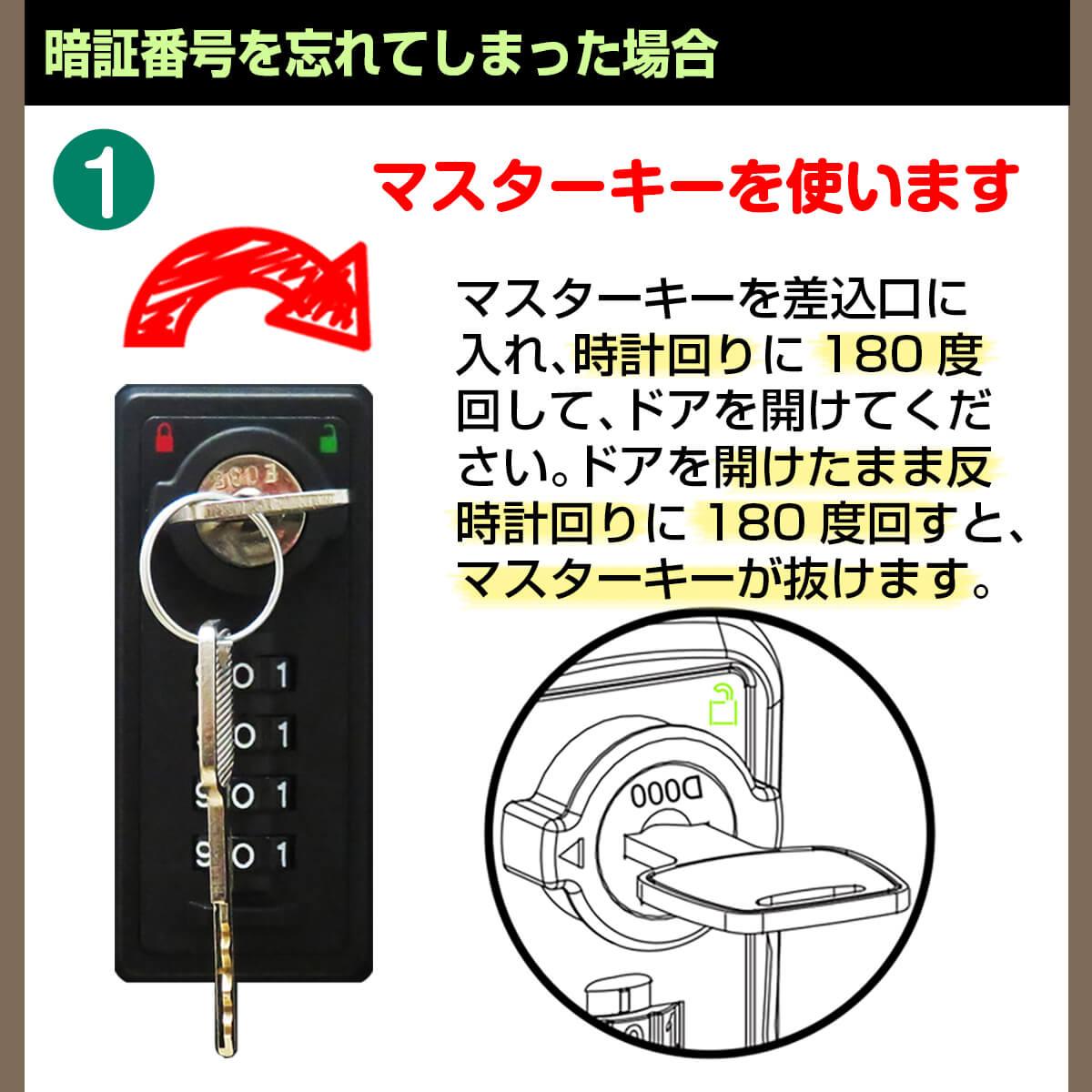 宅配ボックス ルスネコボックス®の解除方法2