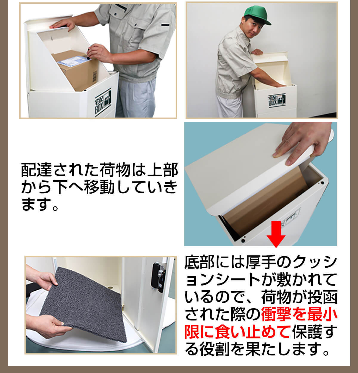 宅配ボックス ルスネコボックス®の上からの使い方3