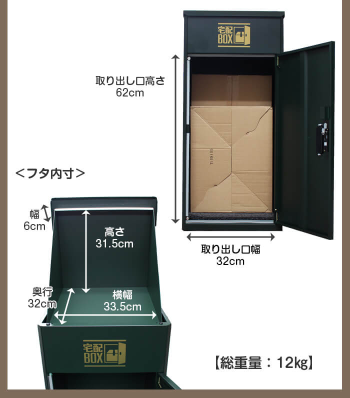 ルスネコボックス®のサイズ寸法2